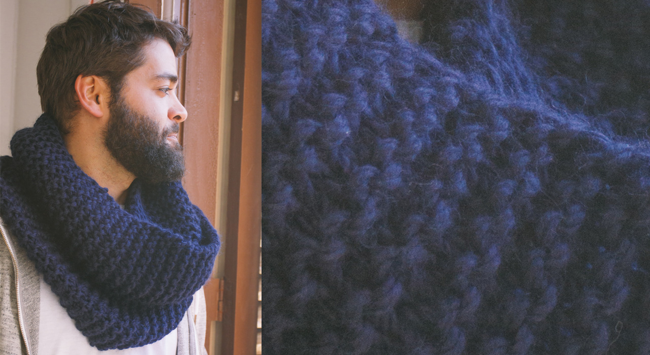 Modele tricot snood homme