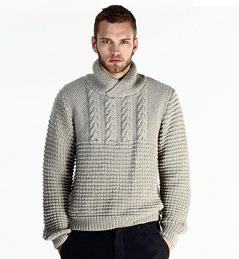 Patron pull tricot homme
