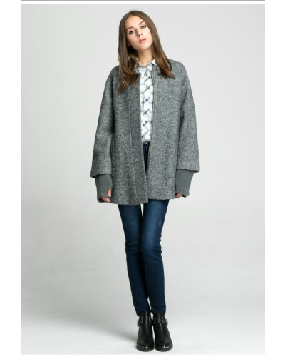 Manteau mi long en laine