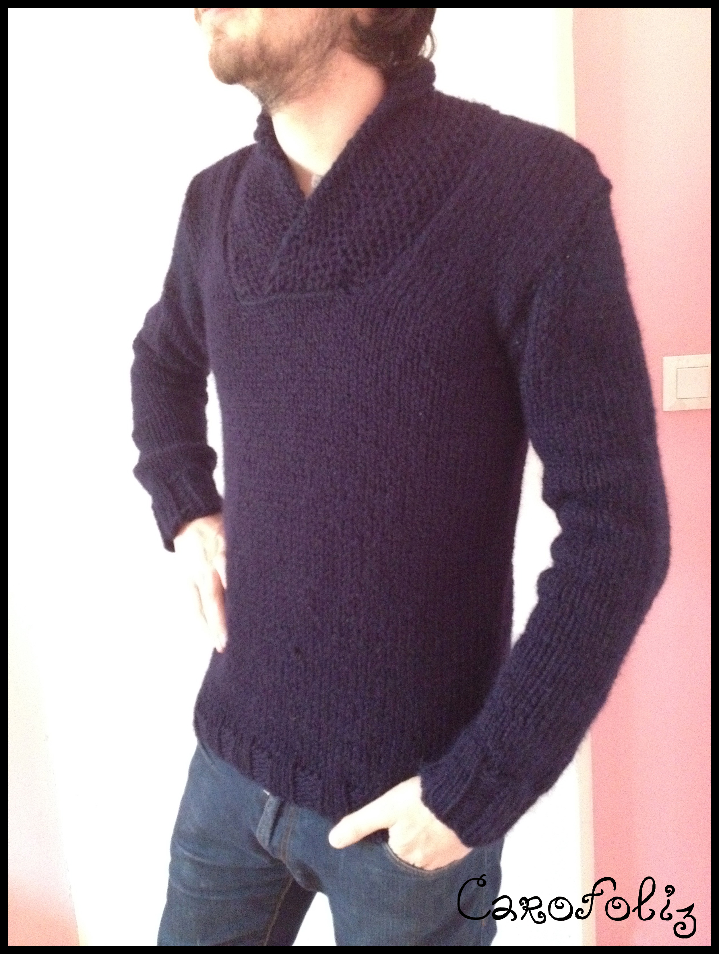 Pull homme tricot