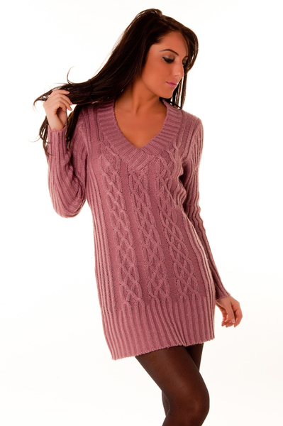 fdc1110ce2a Pull laine rose femme